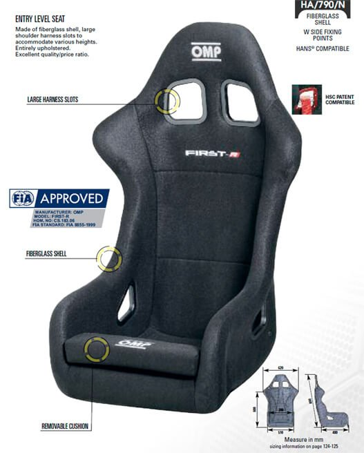 Asiento OMP First R Size