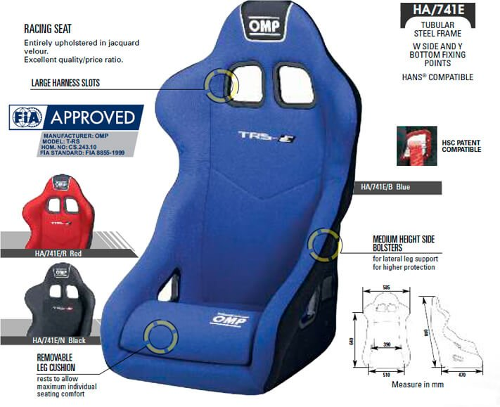 Asiento OMP TRS Size